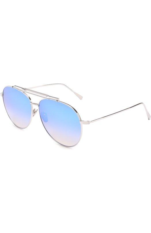 Солнцезащитные очки Frency&Mercury. Цвет: серебряный