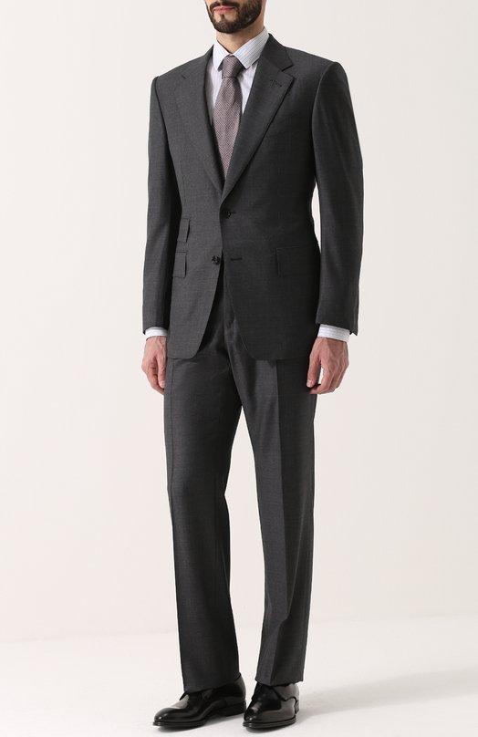 Купить Шерстяной костюм с пиджаком на двух пуговицах Tom Ford, 222R01/21AA41, Италия, Серый, Подкладка-шелк: 50%; Подкладка-купра: 50%; Шерсть: 100%;