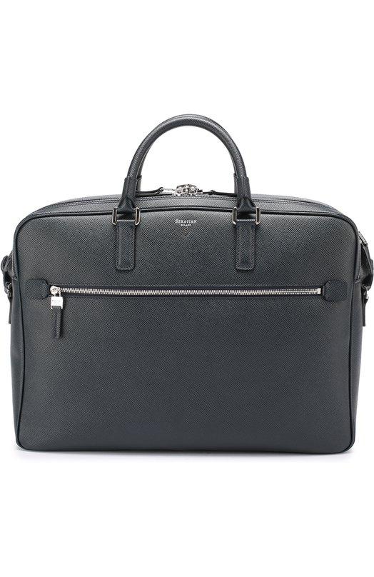 Кожаная сумка для ноутбука Serapian, SEV0EMLL5969M40B, Италия, Темно-синий, Кожа натуральная: 100%; - купить