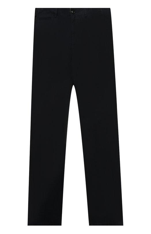 Хлопковые брюки прямого кроя Burberry, 4009276, Таиланд, Синий, Хлопок: 100%;  - купить