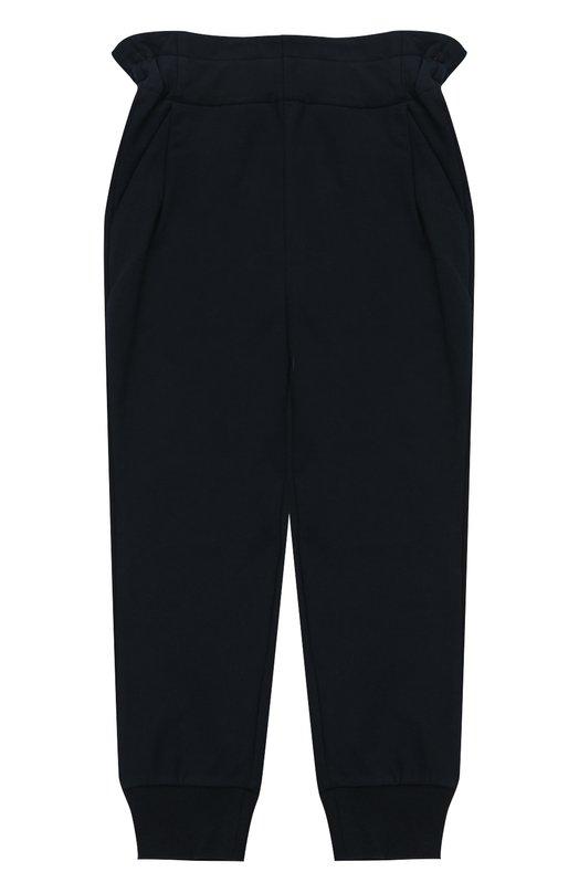 Спортивные брюки с эластичными манжетами и широким поясом Fendi, JFF057/8RA/2A-5A, Португалия, Синий, Хлопок: 95%; Эластан: 5%;  - купить