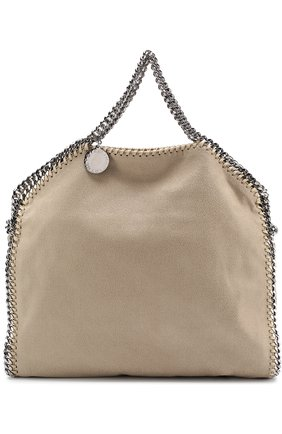 Сумка Falabella Fold Over из эко-кожи Stella McCartney серая | Фото №1