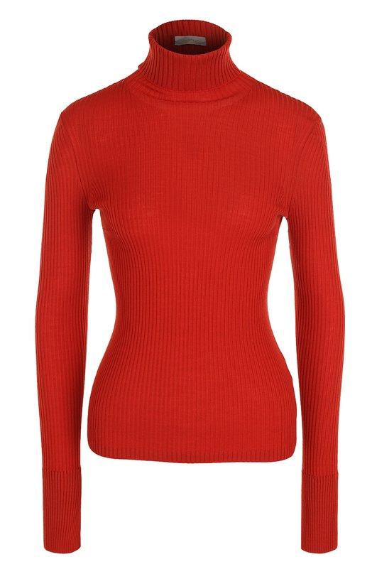 Купить Водолазка фактурной вязки с разрезами на плечах MRZ, FW17-0106, Италия, Красный, Шерсть: 94%; Полиамид: 6%;