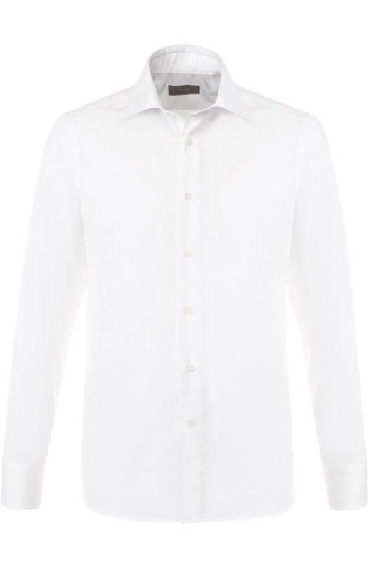 Купить Хлопковая сорочка с воротником кент Canali, X05/GA00107/CS, Италия, Белый, Хлопок: 100%;