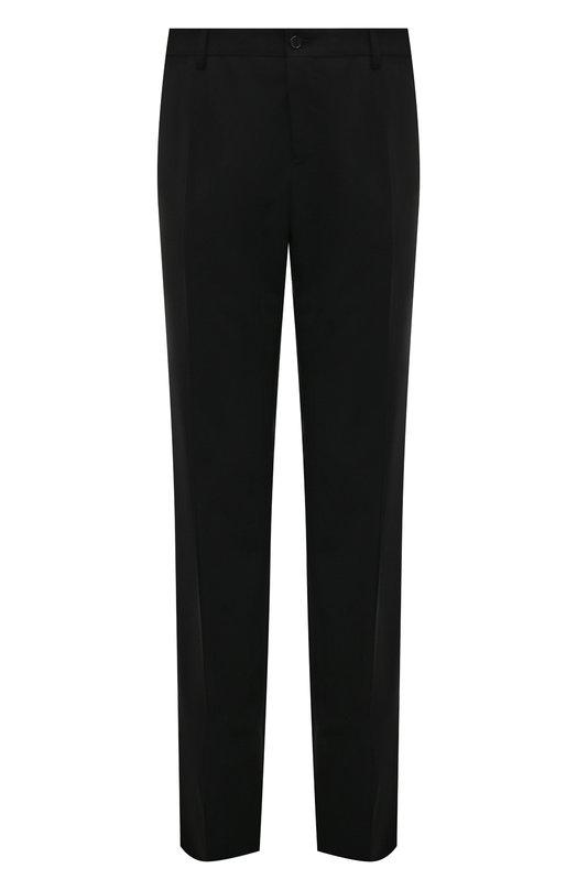 Купить Шерстяные брюки прямого кроя Dolce & Gabbana, 0101/GY10MT/FUBBG, Италия, Черный, Шерсть: 97%; Эластан: 3%; Подкладка-вискоза: 100%;
