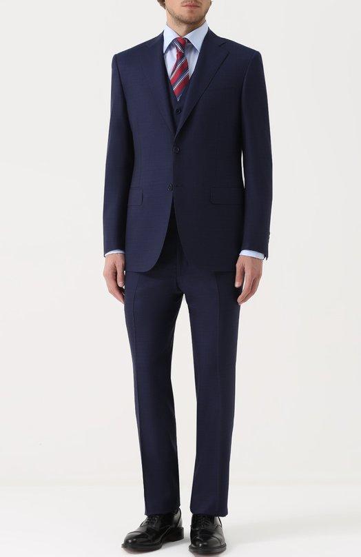 Купить Шерстяной костюм-тройка в клетку Canali Италия 5178557 11220/10/BF01204/305