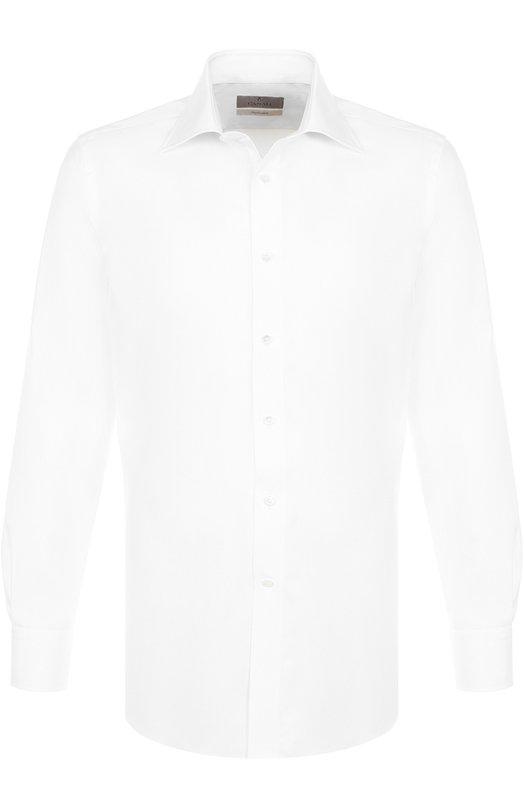 Купить Хлопковая сорочка с воротником кент Canali, N705/GD00392/CS/LF, Италия, Белый, Хлопок: 100%;