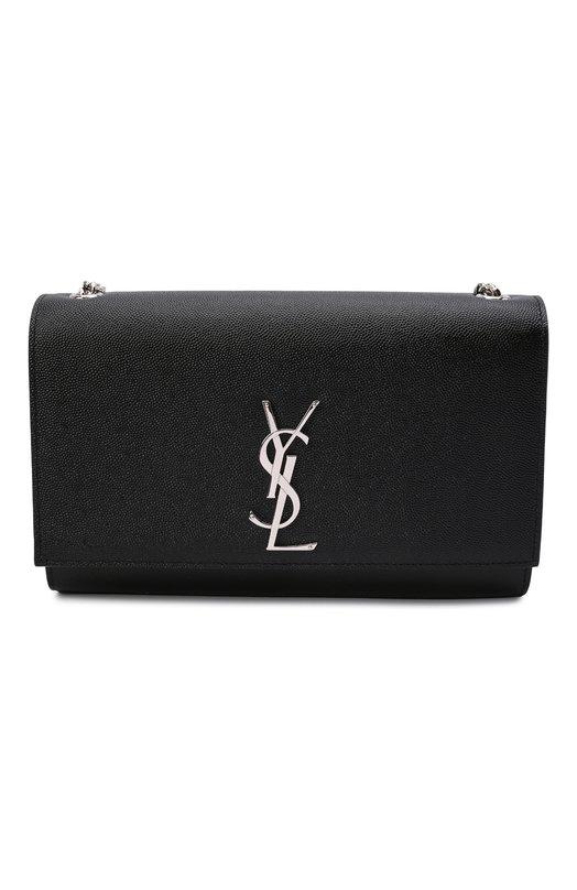 Купить Сумка Monogram Kate medium Saint Laurent, 364021/B0W0N, Италия, Черный, Вискоза: 100%; Кожа натуральная: 100%;