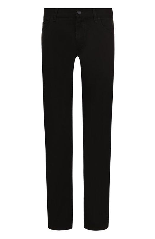 Купить Однотонные джинсы прямого кроя Dolce & Gabbana, 0101/GY70CD/G8V29, Италия, Черный, Хлопок: 60%; Лиоселл: 40%;