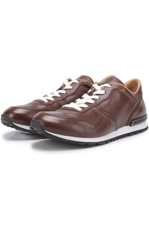 Купить Кожаные кроссовки на шнуровке Tod's Италия 5180946 XXM0YM0R360DVRS800