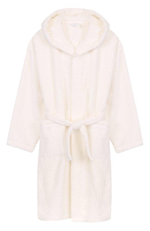 Купить Хлопковый халат с капюшоном La Perla, 54620, Италия, Белый, Хлопок: 100%;