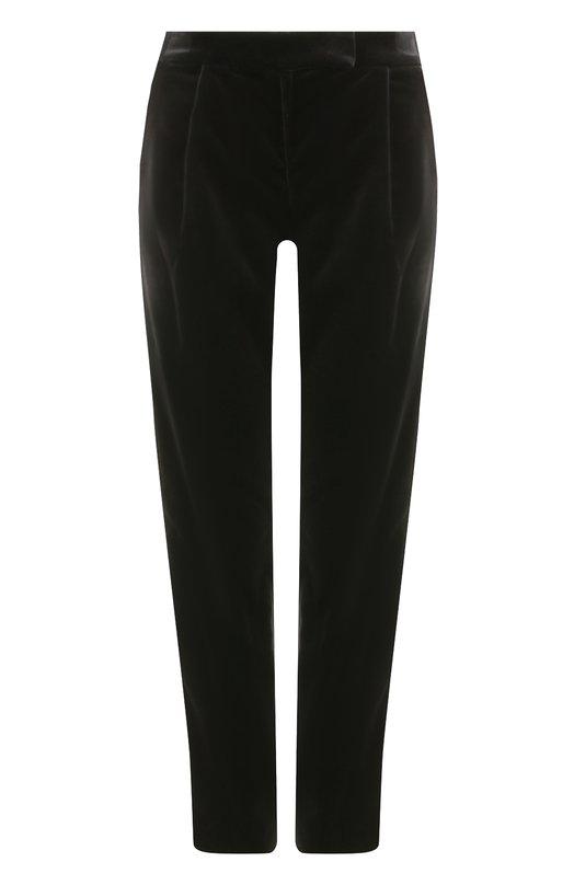 Купить Бархатные брюки прямого кроя Elie Saab, 8821, Италия, Черный, Хлопок: 84%; Подкладка-вискоза: 57%; Вискоза: 5%; Подкладка-полиэстер: 43%; Ацетат: 11%;