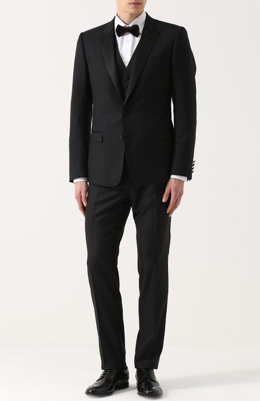 Купить Шерстяной смокинг-тройка с шелковыми лацканами Dolce & Gabbana Италия 5176727 0101/GK16MT/FU2NF