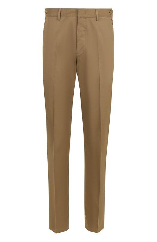 Хлопковые брюки прямого кроя Lanvin