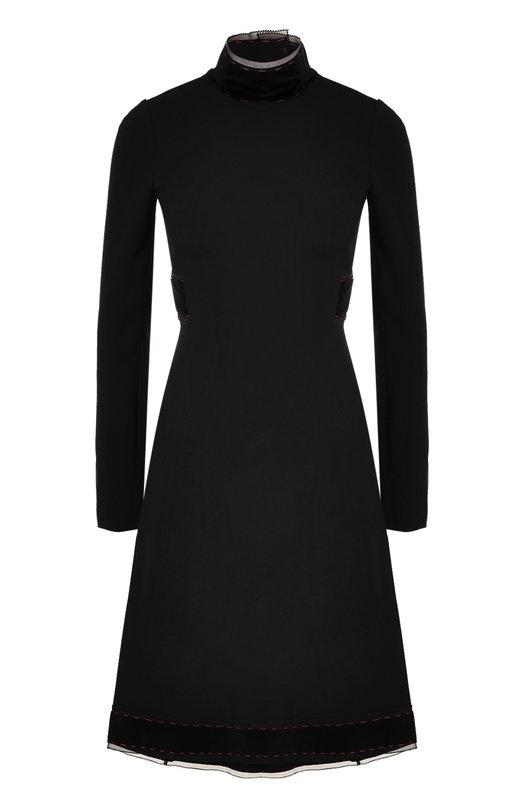 Купить Приталенное платье-миди с воротником-стойкой Dolce & Gabbana Италия 5181031 0102/F65Q5Z/FURDV