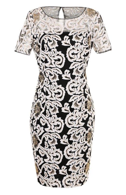 Купить Приталенное платье-миди с вышивкой St. John, K12MW43, Китай, Золотой, Подкладка-шелк: 94%; Подкладка-эластан: 6%; Полиэстер: 100%;