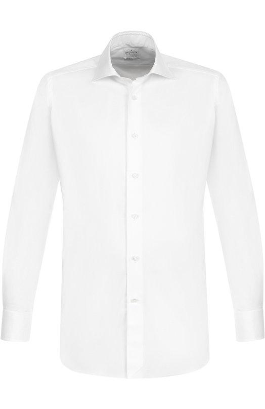 Купить Хлопковая сорочка с воротником акула Bagutta, B345SL/03447, Италия, Белый, Хлопок: 100%;