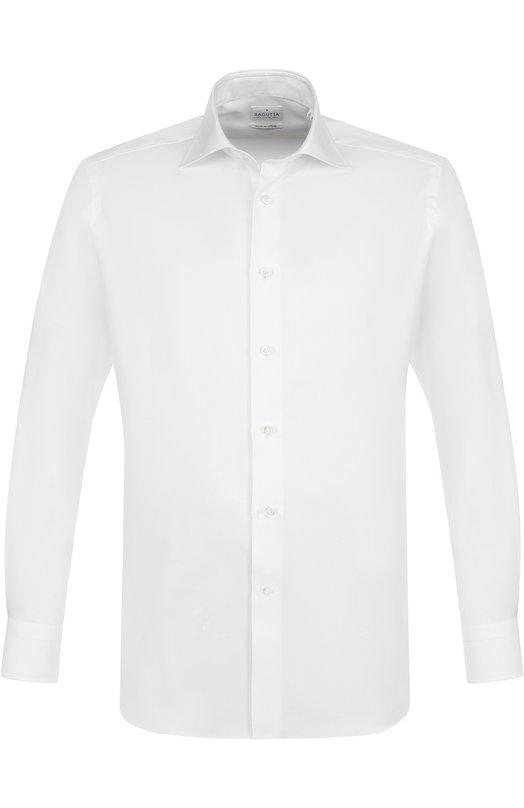 Купить Хлопковая сорочка с воротником акула Bagutta, B345SL/07259, Италия, Белый, Хлопок: 100%;