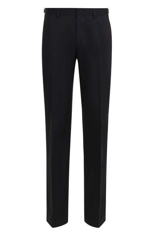 Купить Хлопковые брюки прямого кроя Lanvin, RMTR0042A17, Италия, Темно-синий, Хлопок: 100%;