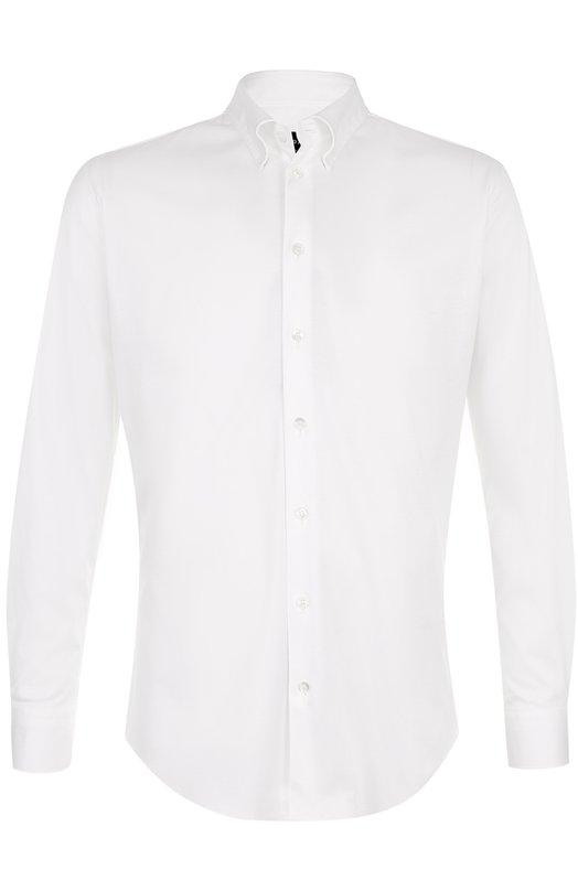 Купить Хлопковая сорочка с воротником button down Giorgio Armani, ZSC06T/ZS80C, Италия, Белый, Хлопок: 100%;