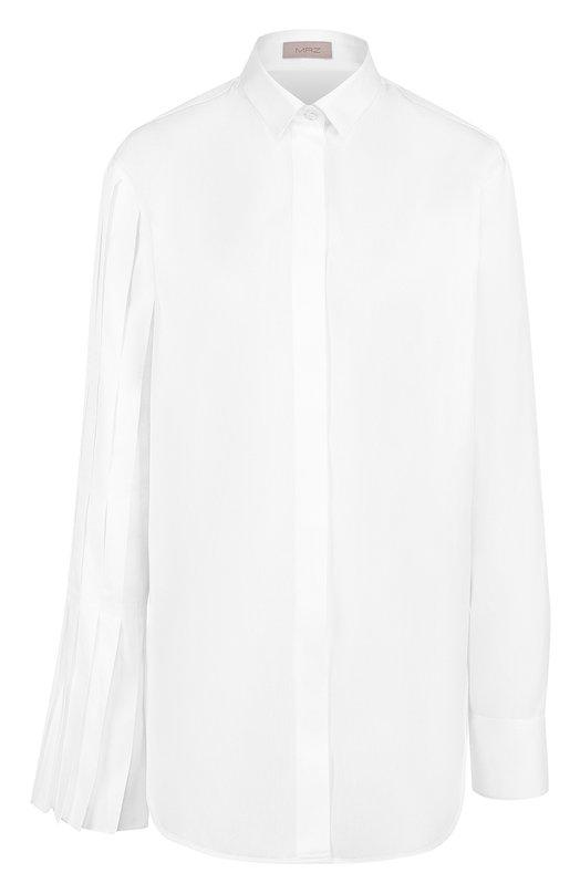 Купить Хлопковая блуза прямого кроя MRZ, FW17-0261, Италия, Белый, Хлопок: 100%;