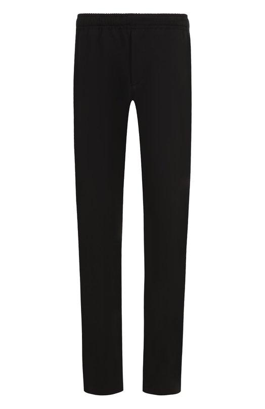 Купить Шерстяные брюки прямого кроя с поясом на резинке Joseph, JF000088, Италия, Черный, Полиэстер: 53%; Шерсть: 43%; Эластан: 4%;