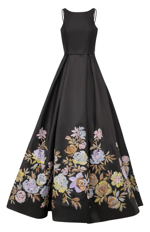 Купить Приталенное платье-макси с цветочным принтом Basix Black Label Китай 5174678 D8024L