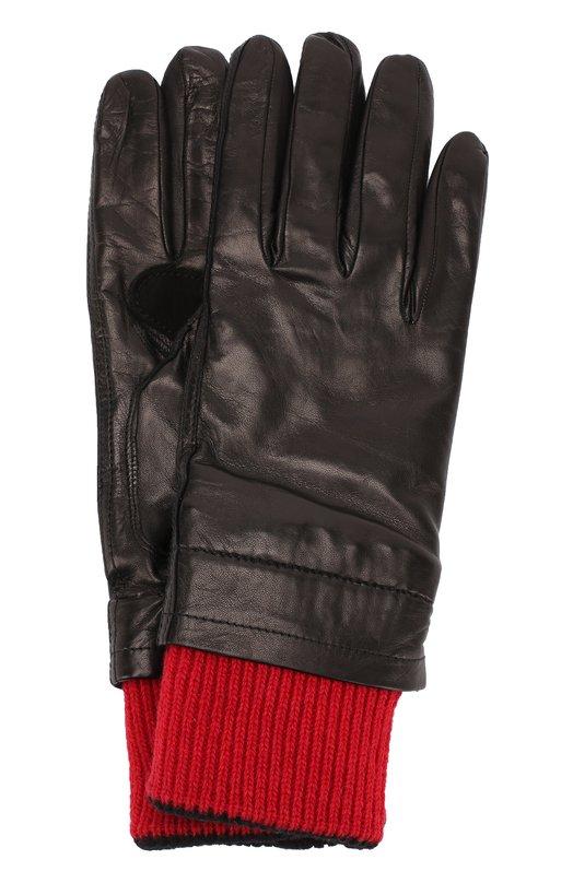 Купить Кожаные перчатки с контрастными шерстяными манжетами Ami Италия 5181138 H17A300.340