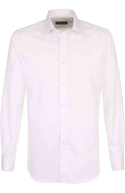Купить Хлопковая сорочка с воротником кент Canali, 705/GA00098/CS/PG, Италия, Белый, Хлопок: 100%;