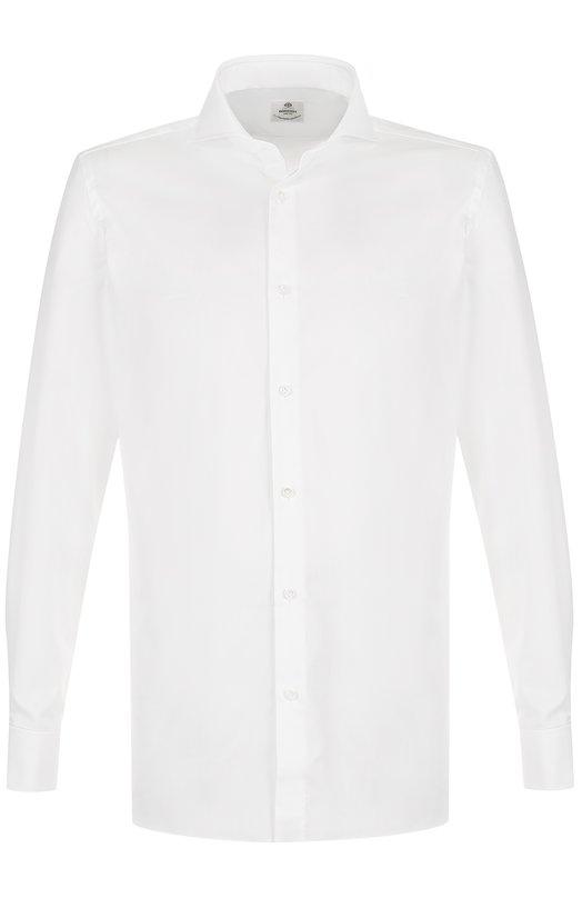 Купить Хлопковая сорочка с воротником акула Luigi Borrelli, EV06/TS5065, Италия, Белый, Хлопок: 100%;
