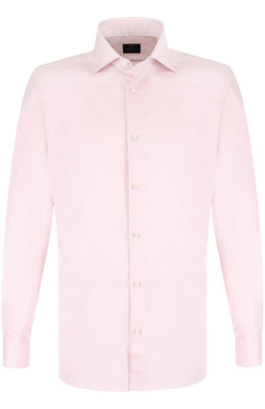 Купить Хлопковая сорочка с воротником акула Luigi Borrelli, EV08/TS5022, Италия, Розовый, Хлопок: 100%;