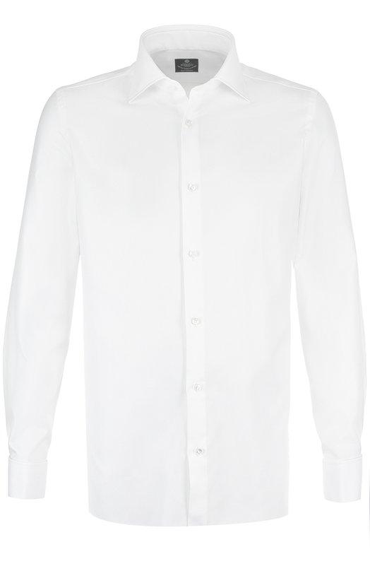Купить Хлопковая сорочка с воротником кент Luigi Borrelli, EV08/TS5075, Италия, Белый, Хлопок: 100%;