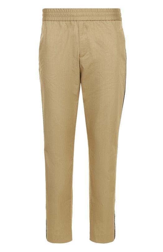 Купить Хлопковые брюки прямого кроя с поясом на резинке Palm Angels, PMCA005F173180254800, Италия, Бежевый, Хлопок: 100%; Отделка-полиэстер: 100%;