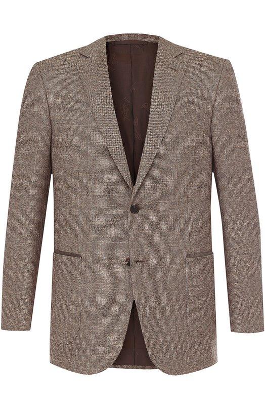 Купить Однобортный пиджак из смеси шерсти и кашемира с шелком Brioni, RG04/06AN2/DRESSAGE/2, Италия, Бежевый, Шерсть: 58%; Кашемир: 5%; Шелк: 37%; Подкладка-купра: 100%;
