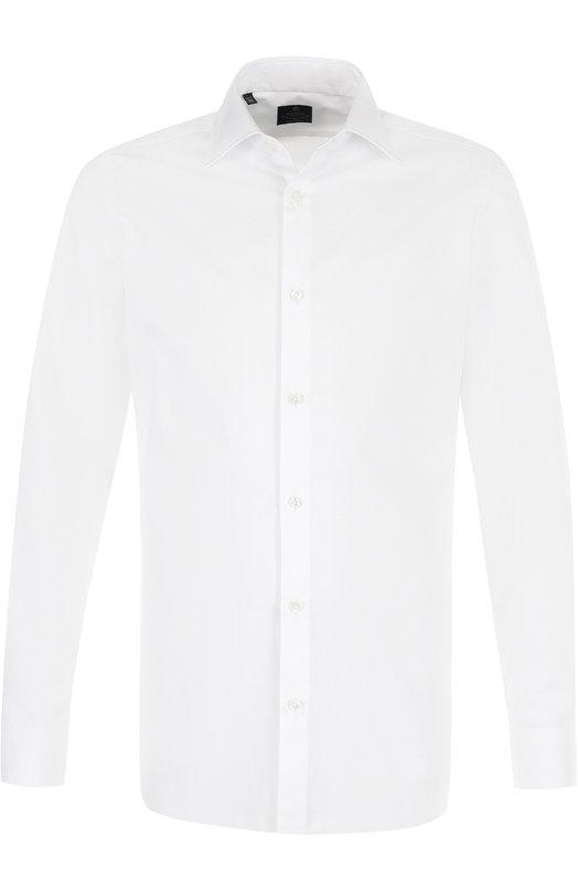 Купить Хлопковая сорочка с воротником кент Luigi Borrelli, EV08/TS5024, Италия, Белый, Хлопок: 100%;