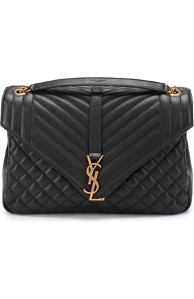 Сумка Monogram Envelope Saint Laurent черная | Фото №1