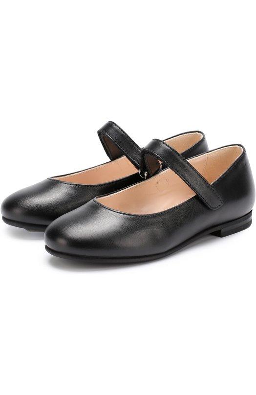 Кожаные туфли с застежками велькро Il Gufo