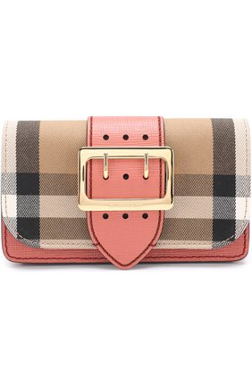 Сумка Mini Buckle Burberry розовая | Фото №1
