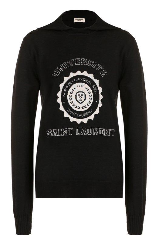Пуловер из кашемира с капюшоном Saint Laurent