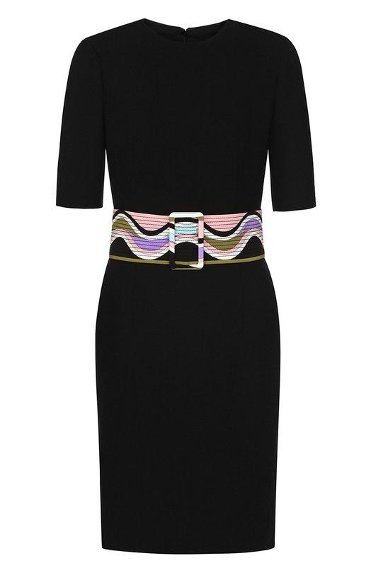 Платье из смеси шерсти и шелка с поясом Emilio Pucci Emilio Pucci