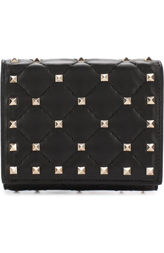 Купить Кожаный бумажник с металлическими заклепками Valentino Италия 5188035 NW2P0P02/NAP