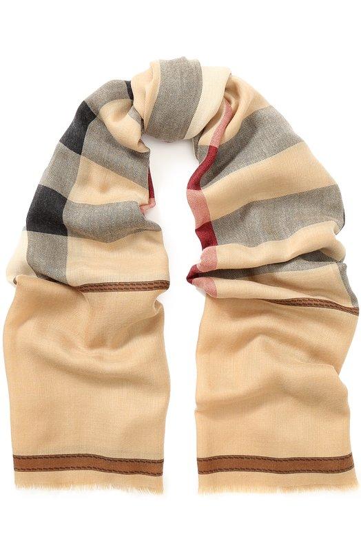 Кашемировый шарф в клетку Burberry Burberry