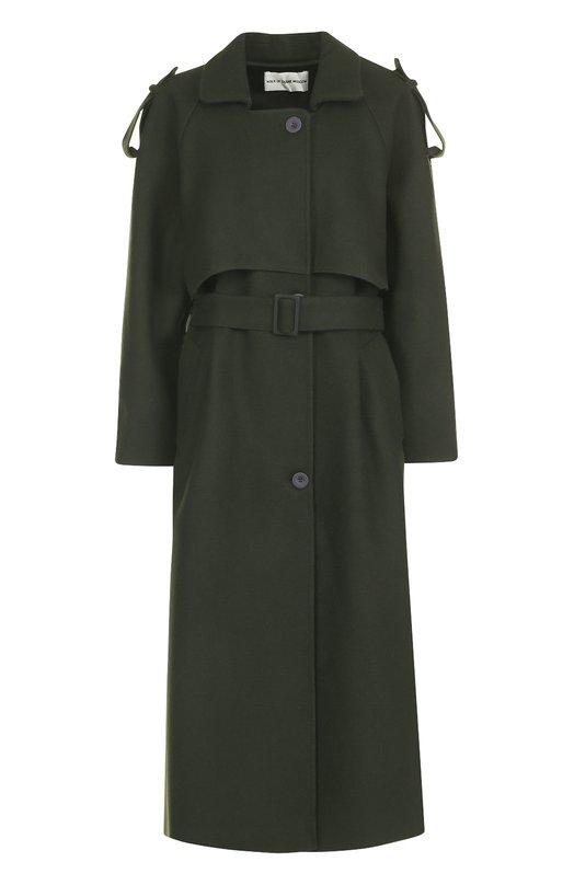 Шерстяное однобортное пальто с поясом Walk of Shame Walk of Shame