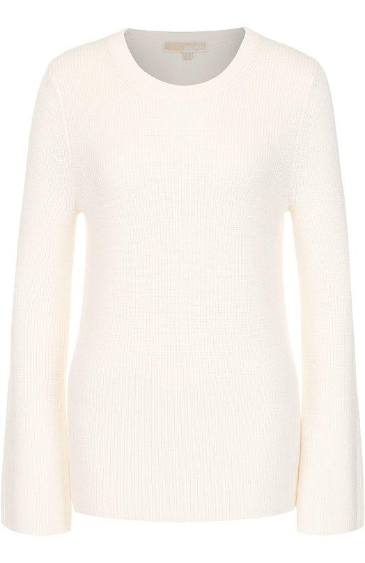 Вязаный пуловер с расклешенными рукавами MICHAEL Michael Kors