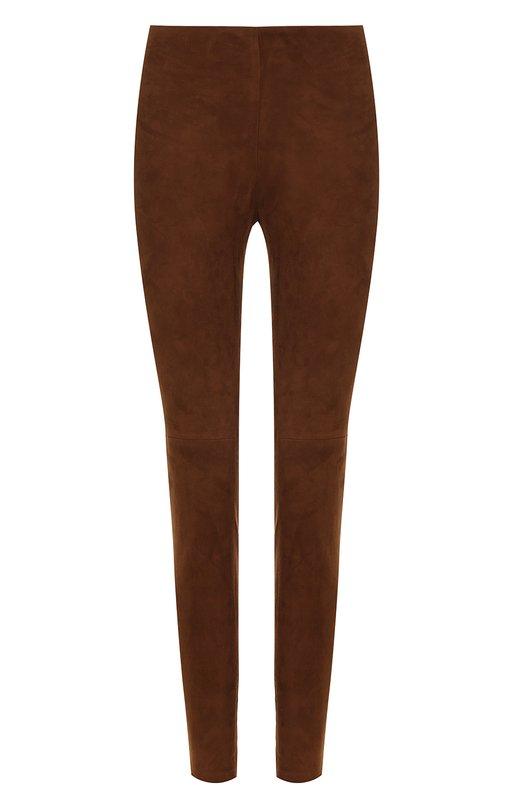 Купить Замшевые брюки-скинни Ralph Lauren, 290618851, Италия, Коричневый, Замша натуральная: 100%;