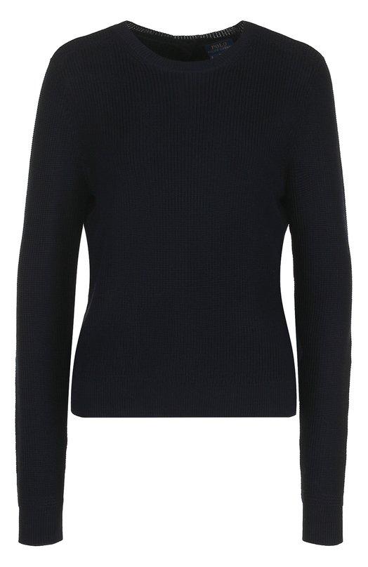 Купить Пуловер фактурной вязки с пуговицами на спине Polo Ralph Lauren, 211659916, Китай, Синий, Хлопок: 100%;