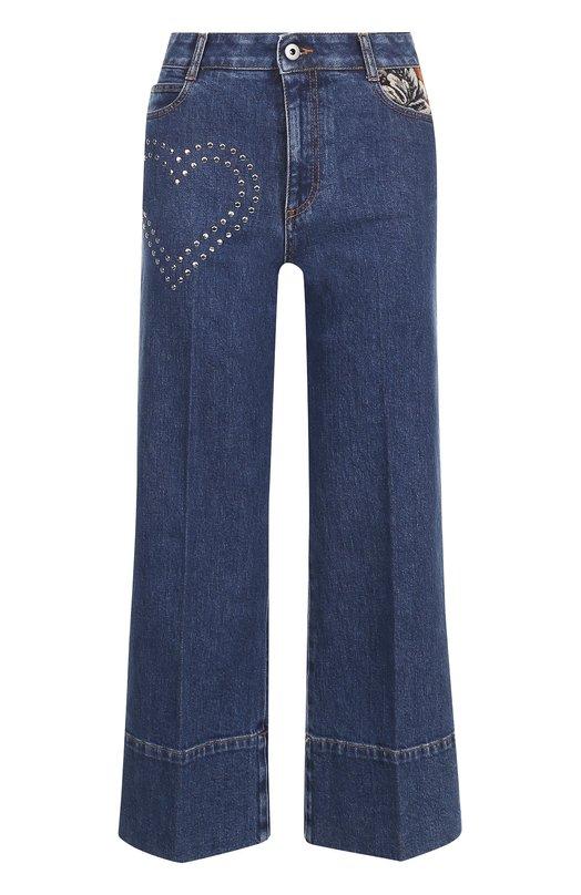Купить Укороченные расклешенные джинсы Stella McCartney, 424861/SLH23, Италия, Синий, Хлопок: 98%; Эластан: 2%;