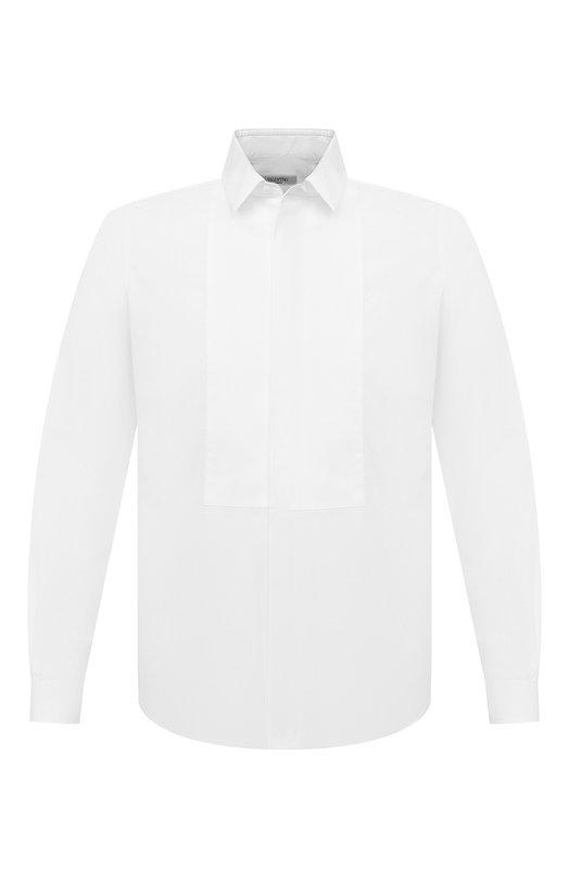 Купить Хлопковая сорочка под смокинг Valentino, NV3ACR8C/3GU, Италия, Белый, Хлопок: 98%; Эластан: 2%;