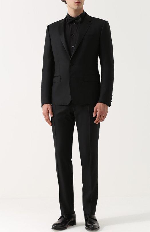 Шерстяной смокинг с шелковой отделкой Dolce & Gabbana