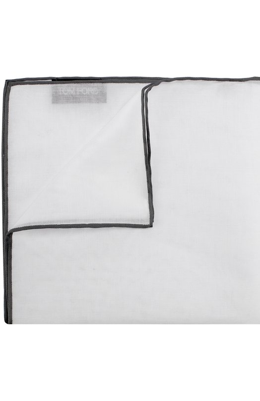 Купить Хлопковый платок с контрастным кантом Tom Ford, 2TF99/TF315, Франция, Белый, Хлопок: 100%;